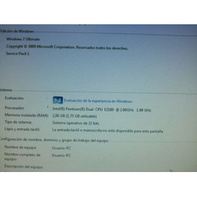 Cpu Dual Core Dd3 2gb. 500gb Dd