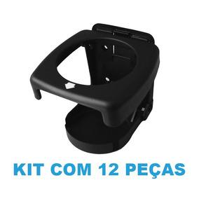 Kit Com 12 Porta Copo Retrátil Dobrável (preto) - Supercubo