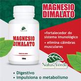 3 Potes Magnésio Dimalato 500mg 100caps Natus Verde 300caps