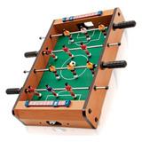 Mini Pebolim Totó Futebol De Mesa 10x31x51cm Bolas E Placar