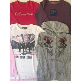 Lote De Camisetas Manga Longa Gap  Benetton cklein . 98be0a364e614