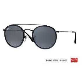 Oculos Rayban Redondo Preto E Dourado - Óculos De Sol no Mercado ... df326549b7
