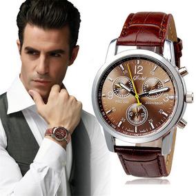 Relógiode Luxo Masculino Com Pulseira Marrom