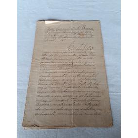Documento Casamento Ass. José Cândido De Barros 1896 Rj
