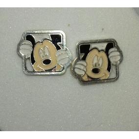 Aretes Disney Mickey Mouse Marco Cuadrado Plata 9.25