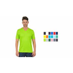 6 Camisetas Masculina Manga Curta Decote V 17235 Algodão e23f2c1ec24f1
