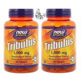 2 X Tribulus Now 1000mg 90 Caps Aumenta Libido E Testo Natur