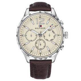 Relógio Pa1013 Tommy Hilfiger Masc. Couro Marrom - 1791467