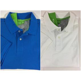 Kit 2 Camisas Polo Masculina Lisa Hugo Boss Fit Original 30ff64bcf345a