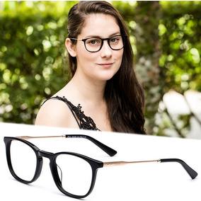 f2ba1c9086119 Armação Oculos Grau Feminino Importado Dr30 Acetato Metal. R  120