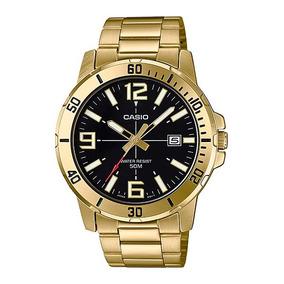 Reloj Casio Quartz Mtpvd01 Hombre Dorado *watchsalas* Full
