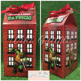 50 Milk Box Dulcero Cajas Personalizadas Tortugas Ninja