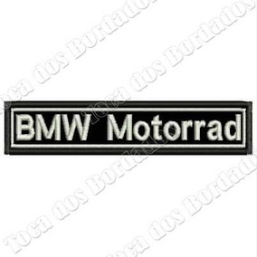 Patch Bordado Tarja Bmw Motorrad Pequena 2x10cm Preta Car688