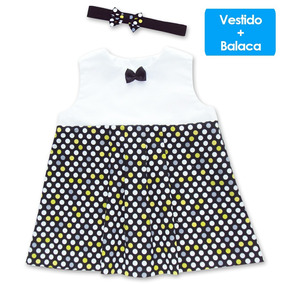 Bogotá D.C. · Vestido Con Corbatín De Pepas Para Bebé Natú + Gratis Balaca 5f52fa706f5