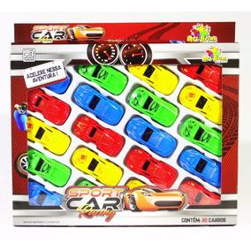Kit 20 Carrinhos Sport Car Racing De Plastico