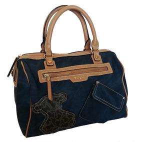 Bolsa Tous - Cilindro - Azul Tipo Mezclilla