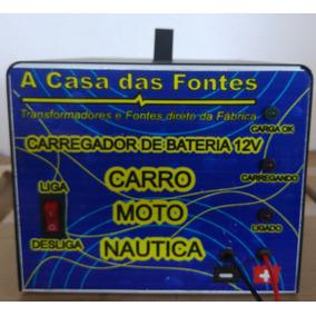Carregador Bateria Carros Motos Náutica 12v Flutuante