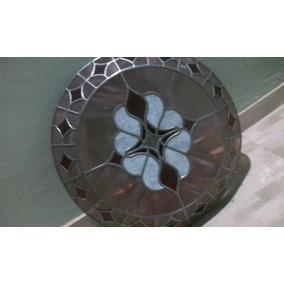 Lustre Mosaico De Vidro Armação De Chumbo Diâmetro 65 Cm