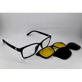 a6a2e69e2 Armação Para Óculos Clip On - Grau + Solar + Night Drive