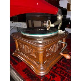 Gramofono Victor Caja De Roble . Excelente - Atípico