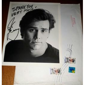 Foto Autografado De Jim Carrey, Enviado Pelo Próprio Em 96.