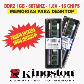 Kit 2x 1gb Ddr2 Cl5 Kingston 667mhz Kvr667d2n5/1g Pc2-5300