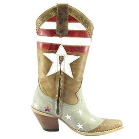 Bota Texana Feminina Bico Fino West Country Firenze Caf - Sapatos no ... 8f558da3306