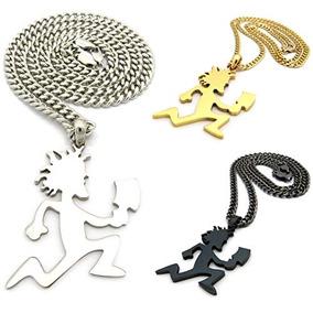 Hombre Hatchet Hombre Hip Hop Collar Pendiente Oro Plata Neg a490a32a665