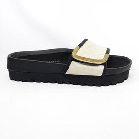 Sandalias Velcro Ancha Faja Mujer Con w86qwr1