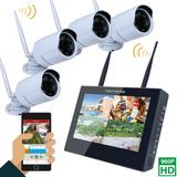 Camara Seguridad Wifi Inalambrica Monitor Nvr Vision Noctu