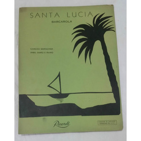 Partitura Canção Napolitana (piano)- Santa Lucia - Barcarola