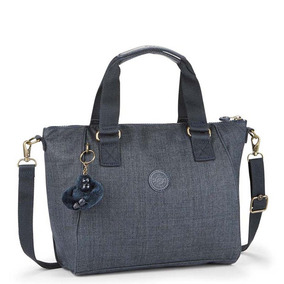 Bolsa De Mão Amiel Azul Cotton True Blue Kipling