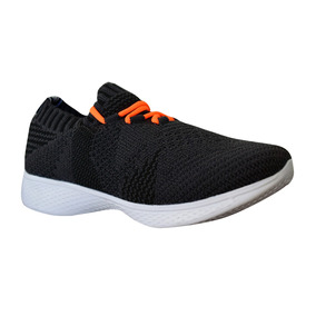 Zapato Tenis Casual Tejido Niño Infantil Negro Moderno Kappa 4425eca71acce