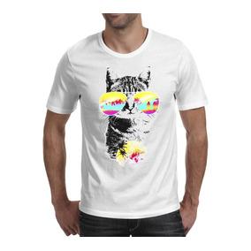 Camiseta Gato Oculos - Camisetas Manga Curta para Masculino no ... 3528b4e696