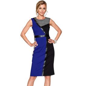 Sexy Dress Elegante cintura 220550 Colors Blue Black zMpSVU