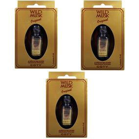 Wild Musk Almíscar Selvagem Óleo Perfumado 5ml Kit 3 Un