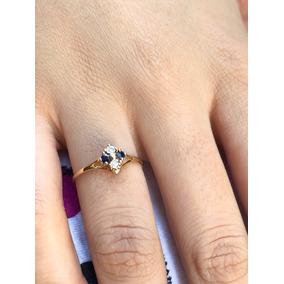 Lindo Anel Em Ouro Amarelo 18 K 750!!!com Pedras Naturais!!!