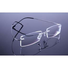 8211aaf892687 Armação Prata Grau Oculos Metal Titanium Titanio Sem Aro 408