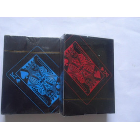 2 Baralhos = Preto Azul + Vermelho Pvc Magica 55pçs F Gratis