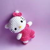 10 Muñecas Hello Kitty Crochet Souvenir Llavero Cumpleaños