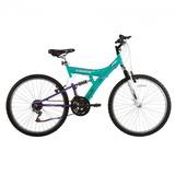 Bicicleta Aro 26 Tb200 18 Marchas Azul/lilás Track & Bikes
