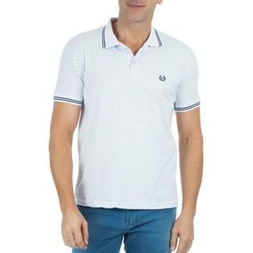 Camisa Polo Colombo Masculina Estampada Branca por Camisaria Colombo 7814f1ccbcb0a