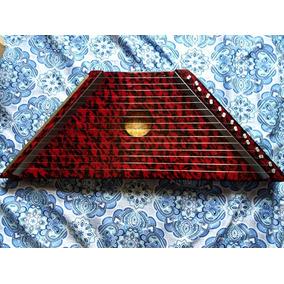 Mini Harpa Cítara Vermelha Nova 1ª+2ªcoletânea 20partituras