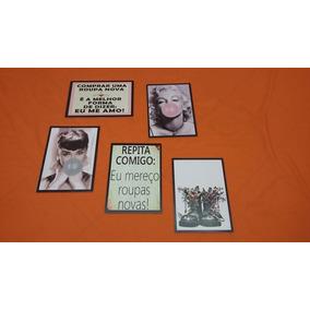 Kit Com 5 Placas Para Lojas De Roupas /moda
