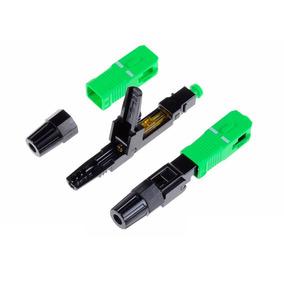 100 Unid Conector Óptico Fast Sc Apc Fibra Óptica Ftth