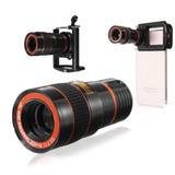 Telescopio 8x Para Celular + Adaptador De Lujo Para Tripode