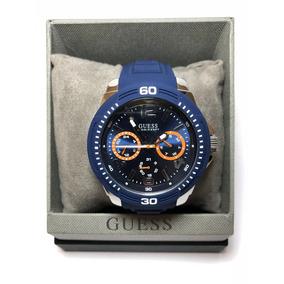 Reloj Guess Tread Azul Para Caballero W0967g2