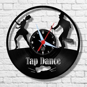 Sapateado Dança Música Relógio Vinil Parede Lp