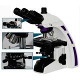 Microscópio Ótica Infinita Planacromático Led E Campo Escuro