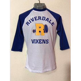 Riverdale Playera Raglan Mangas 3/4 Azul Rey.